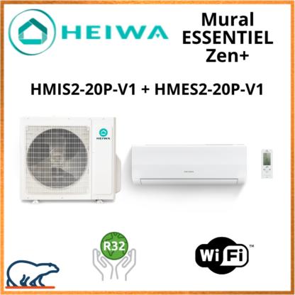 Monosplit ESSENTIEL Zen + HEIWA HMIS2-20-V1 + HMES-20P-V1 2kW