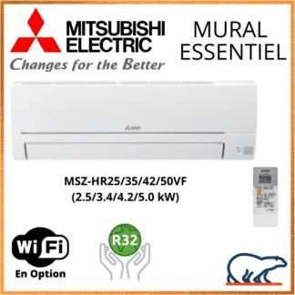 Climatiseur Mural MITSUBISHI Design de Luxe 2,5 kW – MSZ-LN25VG2 + MUZ-LN25VGHZ2