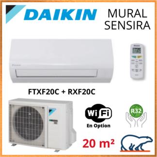 Daikin Climatisation Inverter Réversible – SENSIRA BLUEVOLUTION – R32 – FTXF20C + RXF20C 2.0 KW