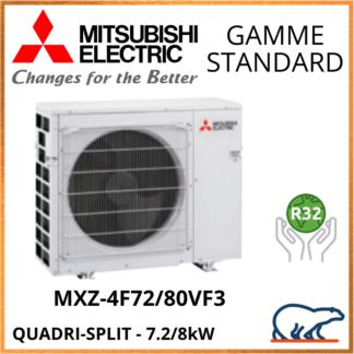 Mitsubishi Unités Extérieures – Quadri-Splits – STANDARD – R32 – MXZ-4F72VF3 / MXZ-4F80VF3