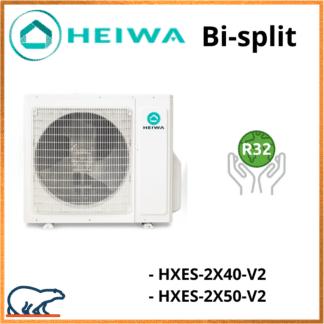 Groupe Extérieur Bi-split HEIWA HMES2X40V2/HMES2X50V2