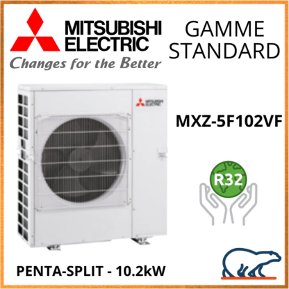 Mitsubishi Unité Extérieure – Penta-Splits – INVERTER – R32 – MXZ-5F102VF 10.2 KW