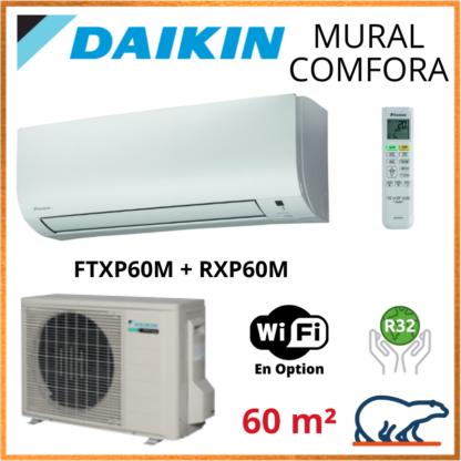 Daikin Climatiseur Inverter Monosplit – COMFORA BLUEVOLUTION – R32 – FTXP60M + RXP60M 6 KW