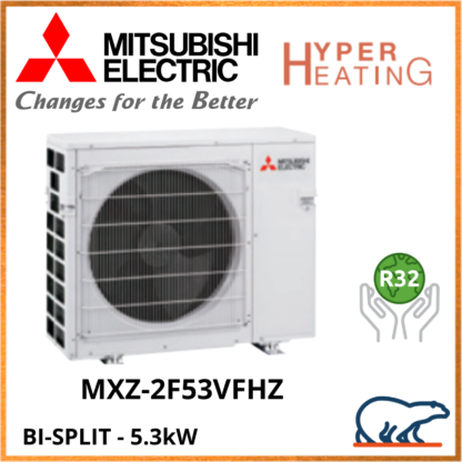 Mitsubishi Unité Extérieure – Bi-Splits – HYPER HEATING – R32 – MXZ-2F53VFHZ  5,3 kW