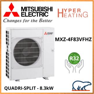 Mitsubishi Unité Extérieure – Quadri-Splits – HYPER HEATING – R32 – MXZ-4F83VFHZ 8,3 kW