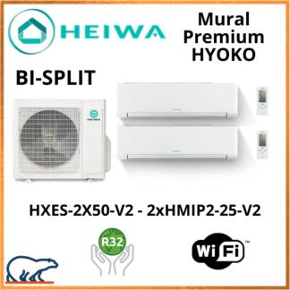 BISPLIT HEIWA Premium HYOKO  2xHMIP2-25-V2 + HXES-2X50-V2 5kW