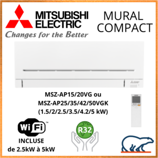 Mitsubishi Unités Intérieures – GAINABLE FLEXIBLE – Haute Pression – R32 / R410A
