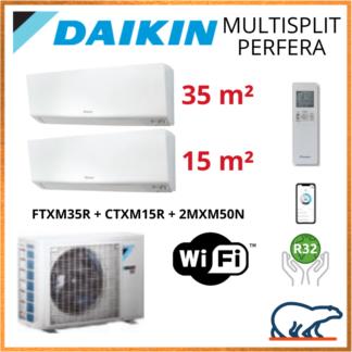 Daikin Bi-Split – PERFERA Bluevolution – R32 – 2MXM50N + FTXM35R + CTXM15R + WIFI 5KW