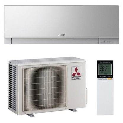 Climatiseur mural MITSUBISHI design argent 4,2 kW