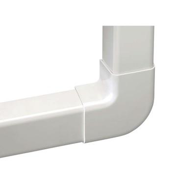 Angle à plat 90° ivoire 80x60mm