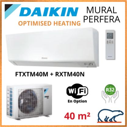 Daikin Climatisation – PERFERA OPTIMISED HEATING BLUEVOLUTION – R32 – FTXTM40M + RXTM40N 4KW