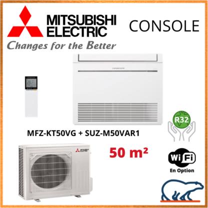 Mitsubishi Monosplit Console Inverter – R32 – MFZ-KT50VG + SUZ-M50VAR1 5.0 KW