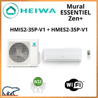 Monosplit ESSENTIEL Zen + HEIWA HMIS2-35P-V1 + HMES2-35P-V1 3.5kW