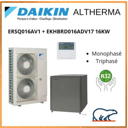 Daikin Altherma 16kW ERSQ016AV1 + EKHBRD016ADV17