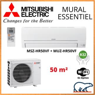 Climatiseur Mural MITSUBISHI Essentiel 5 kW – MSZ-HR50VF + MUZ-HR50VF
