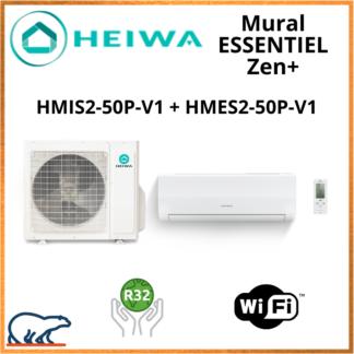 Monosplit ESSENTIEL Zen + HEIWA HMIS2-50-V1 + HMES-50P-V1 5kW
