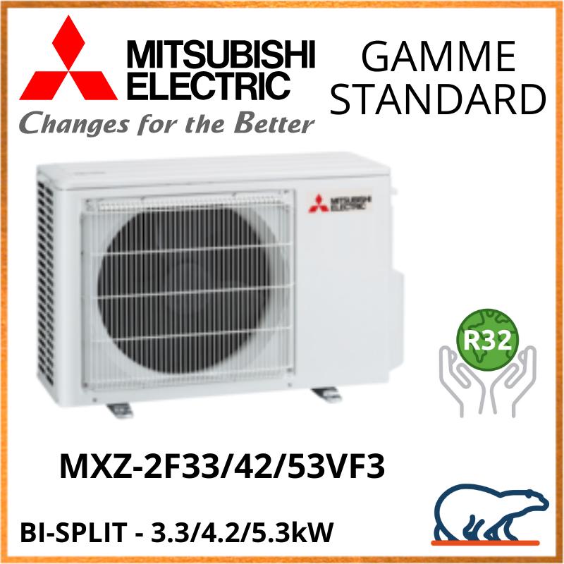 Mitsubishi Unités Extérieures Bi-Splits – STANDARD – R32 – MXZ-2F33VF3 / MXZ-2F42VF3 / MXZ-2F53VF3