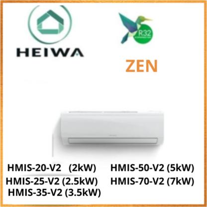 Unité Intérieure ESSENTIAL HEIWA ZEN -R32- HMIS-20-V2/HMIS-25/HMIS-35/HMIS-50/HMIS-70