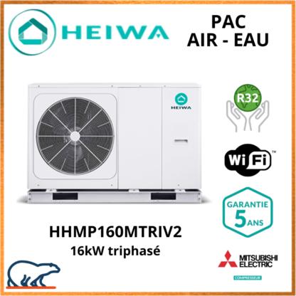 PAC Air-Eau Monobloc Heiwa Premium Hyoko 16kW HHMP160MTRIV2