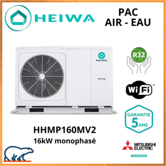 PAC Air-Eau Monobloc Heiwa Premium Hyoko 16kW HHMP160MV2