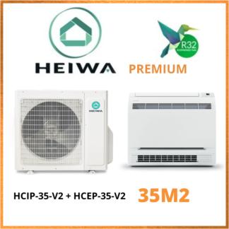 Climatiseur Monosplit Console HEIWA PREMIUM Hyoko HCIP-35-V2 + HCEP-35-V2 3,5 kW