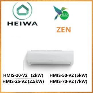Unité Intérieure ESSENTIAL HEIWA ZEN -R32- HMIS-20-V2/HMIS-25/HMIS-50/HMIS-70