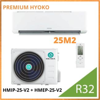 Climatiseur Monosplit PREMIUM HEIWA Hyoko HMIP-25-V2 + HMEP-25-V2 2,5 kW