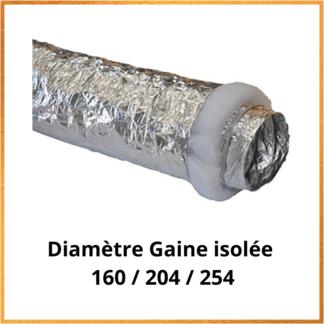 Gaine isolée pour Climatisation 160/204/254
