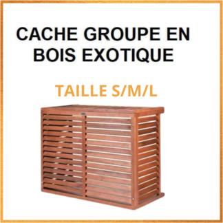 Cache Climatiseur en Bois Exotique S/M/L