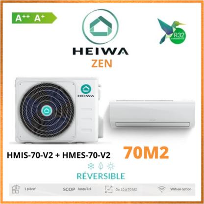 Climatiseur Monosplit ESSENTIAL HEIWA Zen HMIS-70-V2 + HMES-70-V2 7 kW