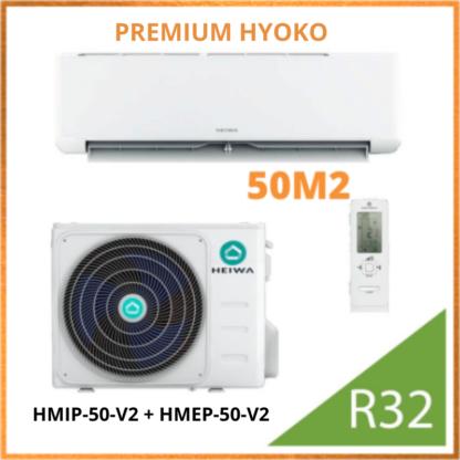 Climatiseur Monosplit PREMIUM HEIWA Hyoko HMIP-50-V2 + HMEP-50-V2  5 kW