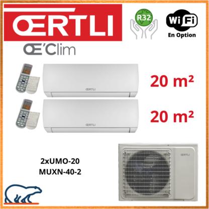 OERTLI Bi-Split UMO-20 + UMO-20 + MUXN-40-2
