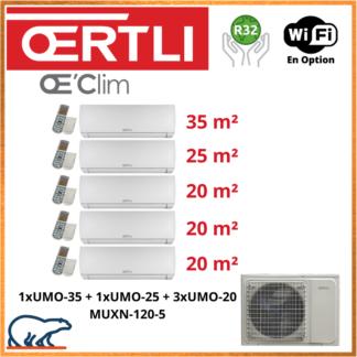 OERTLI Penta-Split UMO-35 + UMO-25 + 3 x UMO-20 + MUXN-120-5