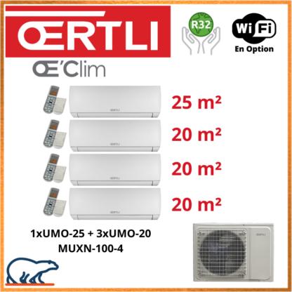 OERTLI Quadri-Split UMO-25 + 3 x UMO-20 + MUXN-100-4