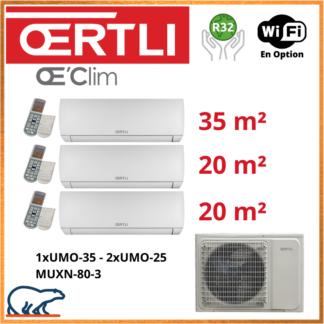 OERTLI Tri-Split UMO-20 x 2 + UMO-35 + MUXN-80-3