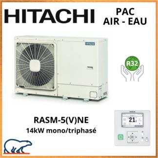 PAC Air-Eau HITACHI Yutaki M 14kW RASM-5(V)NE