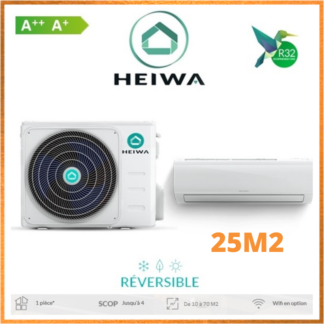 Climatiseur Monosplit ESSENTIAL HEIWA Zen 2,5kW
