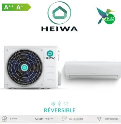 Climatiseur ESSENTIAL HEIWA Zen 3,5 kW