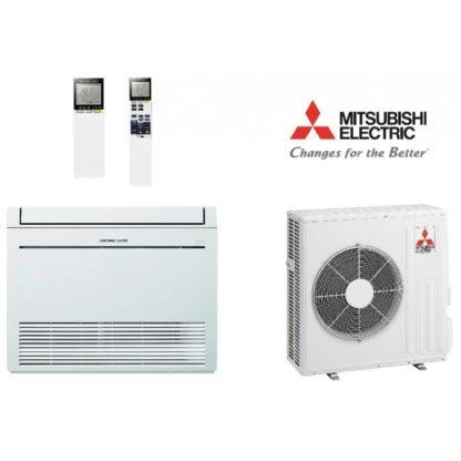 Ensemble climatisation MITSUBISHI console de luxe hyper eating 5 kW