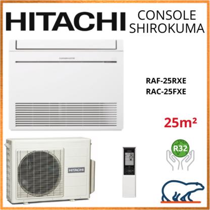 Monosplit HITACHI Console Shirokuma 2.5kW RAF-25RXE + RAC-25FXE