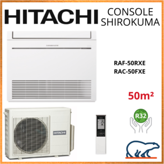 Monosplit HITACHI Console Shirokuma 5kW RAF-50RXE + RAC-50FXE