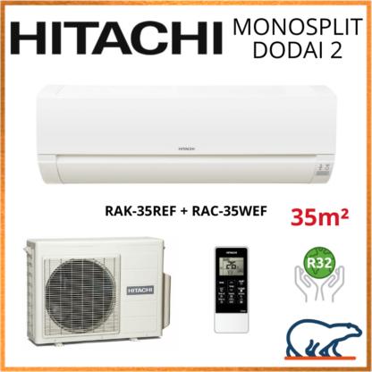 Monosplit HITACHI DODAI 2 3.5kW RAK-35REF + RAC-35WEF