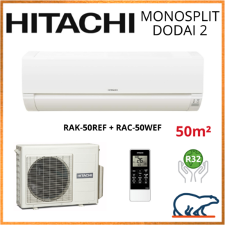 Monosplit HITACHI DODAI 2 5kW RAK-50REF + RAC-50WEF