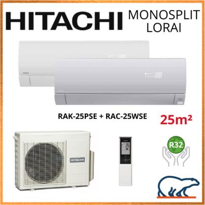 Monosplit HITACHI LORAI Air Pur 2.5kW RAK-25PSE + RAC-25WSE