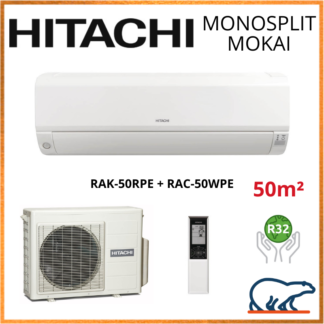 Monosplit HITACHI MOKAI 5kW RAK-50RPE + RAC-50WPE