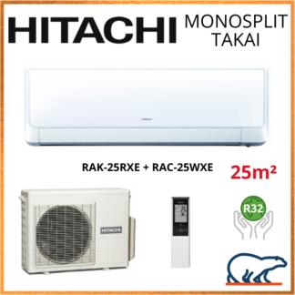 Monosplit HITACHI TAKAI 2.5kW RAK-25RXE + RAC-25WXE