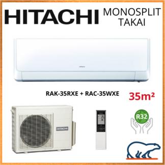 Monosplit HITACHI TAKAI 3.5kW RAK-35RXE + RAC-35WXE