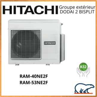 HITACHI Groupes extérieurs DODAI 2 BISPLIT RAM-40NE2F / RAM-53NE2F