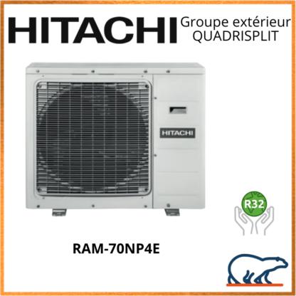 HITACHI Groupe extérieur QUADRISPLIT RAM-70NP4E