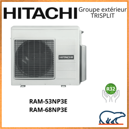 HITACHI Groupes extérieurs TRISPLIT RAM-53NP3E / RAM-68NP3E